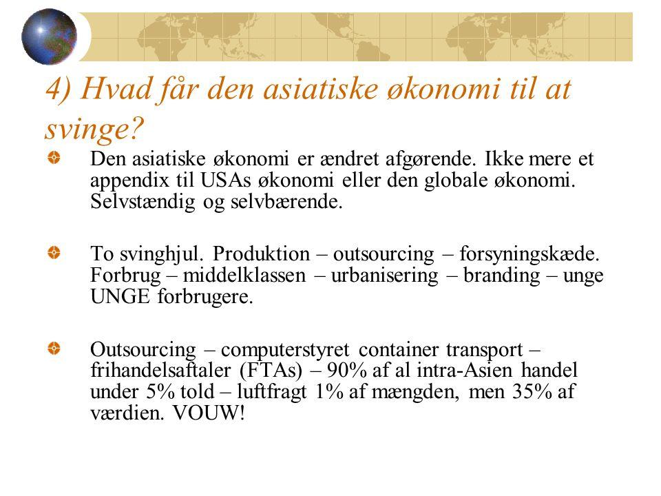 4) Hvad får den asiatiske økonomi til at svinge.Den asiatiske økonomi er ændret afgørende.