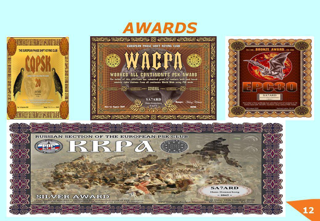 12 AWARDS