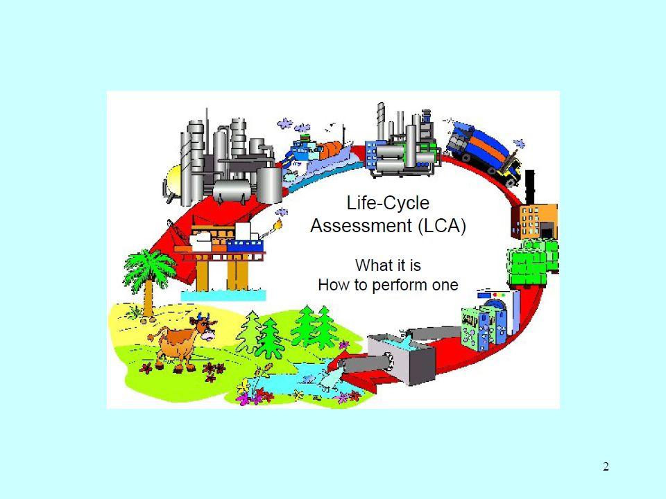 13 Hvorfor LCA? 1.Udvikling af mere miljøvenlige produkter 2.Sammenligne alternativer