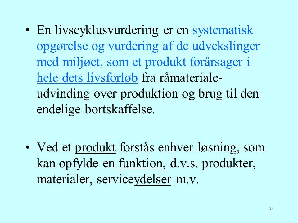 37 Eks: Miljøvurdering af en pumpe Grundfos A/S 1995