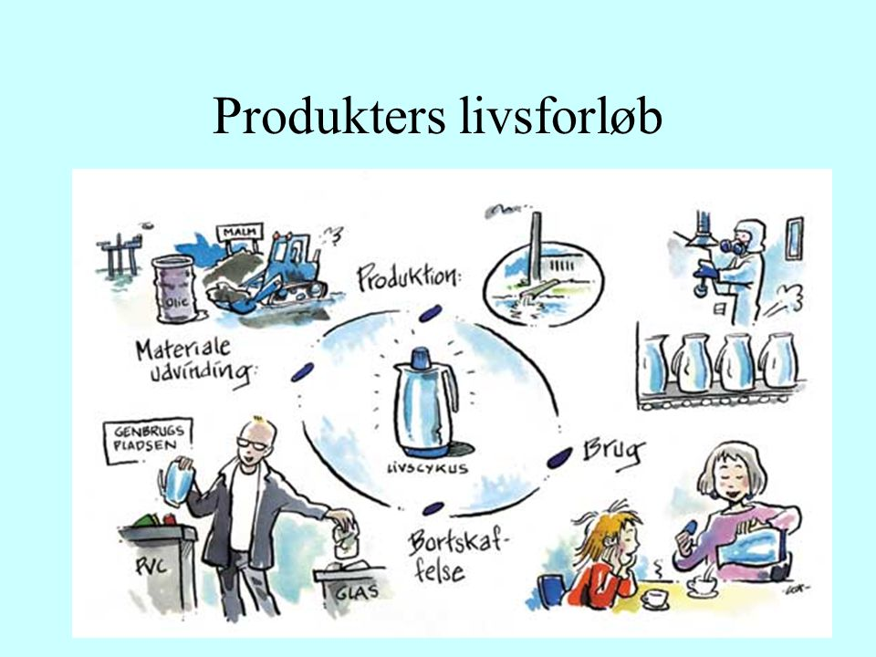 10 FaseBeskrivelse Eksempel: LCA Centers T-shirts Råmaterialefasen er, der hvor råstofferne til produktet udvindes fra naturen.