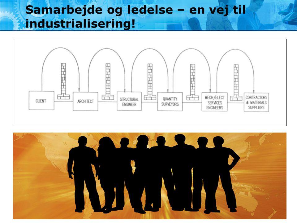 Samarbejde og ledelse – en vej til industrialisering!
