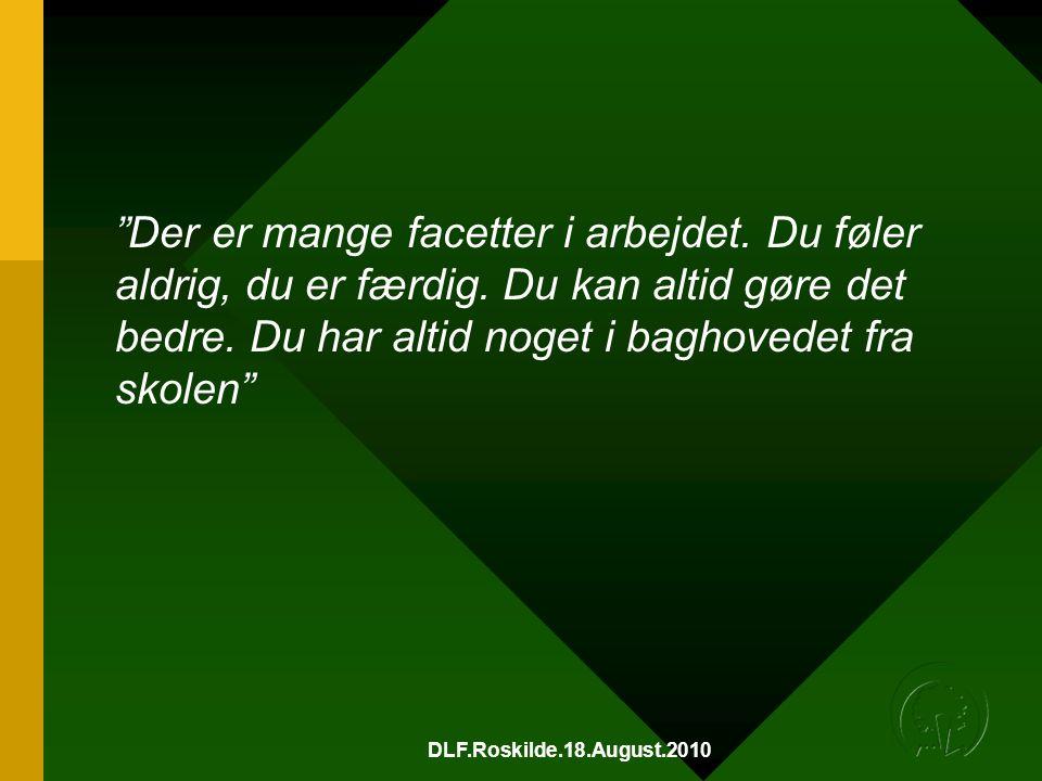 DLF.Roskilde.18.August.2010 Der er mange facetter i arbejdet.