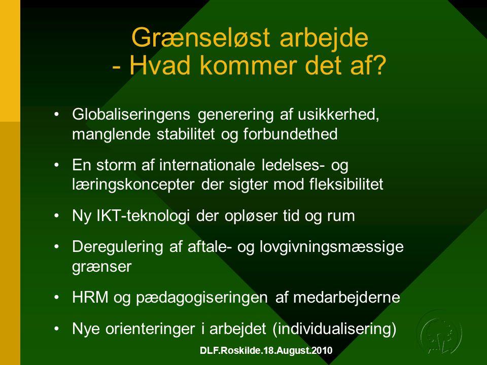 DLF.Roskilde.18.August.2010 Grænseløst arbejde - Hvad kommer det af.