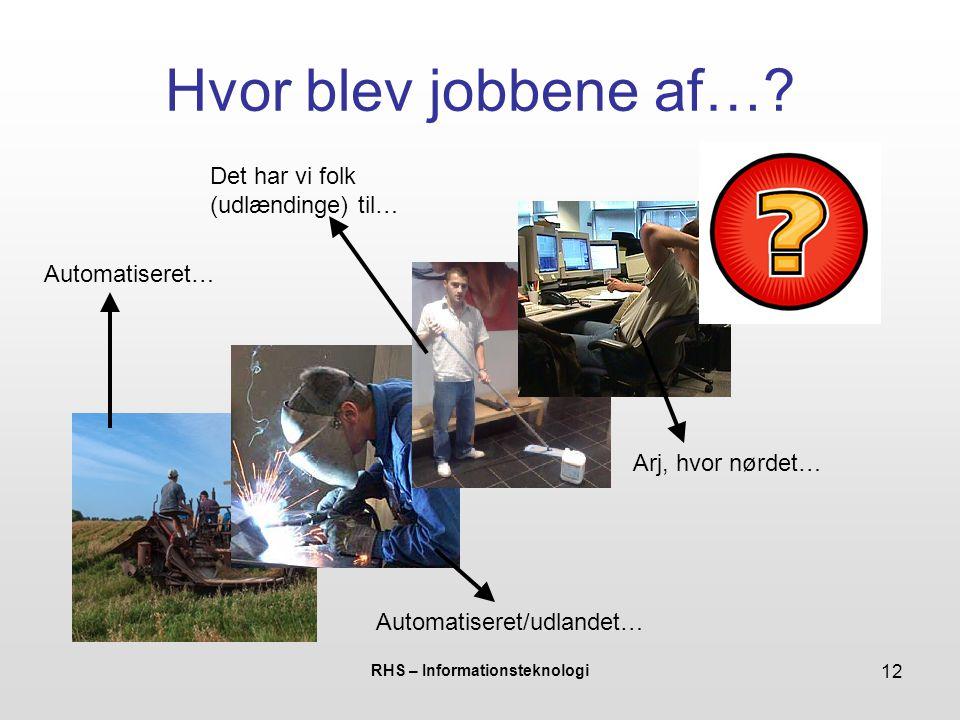 RHS – Informationsteknologi 12 Hvor blev jobbene af….