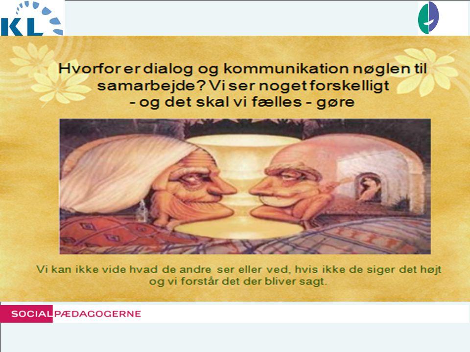 Skabelse af dialogiske rum Dialogiske forholdemåder: •Kongruens - skab overensstemmelse mellem det vi siger og det vi signalerer - kommunikationens mange lag •Metakommunikation - samtale om samtalen (2.orden), om de problemer, uklarheder og inkongruenser, der er i samtalen og som skaber barrierer for opnåelsen af gensidig forståelse •Perspektivbevidsthed - decentrering, evner at tage den andens perspektiv, der kan være principielt anderledes end eget •Gennemsigtighed - gøre sig gennemsigtig overfor den anden, men det kræver både omtanke og ansvarlighed •Disinteresseret interesse - sætte sin interesse - i uden for parentes og lade sig lede af en interesse- for •Respekt for det bedre argument - undersøge i fællesskab argumentationens almen gyldighed.