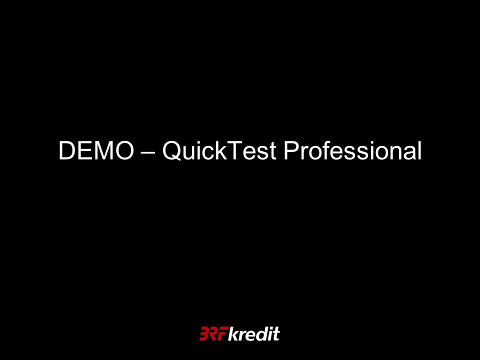 DEMO – QuickTest Professional