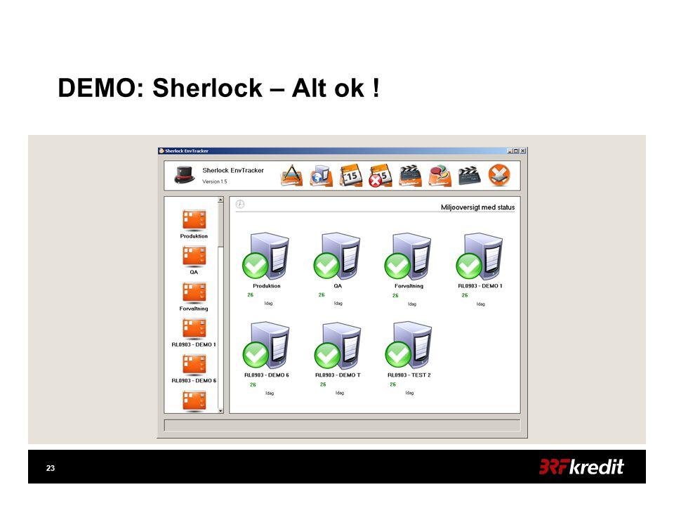 23 DEMO: Sherlock – Alt ok !