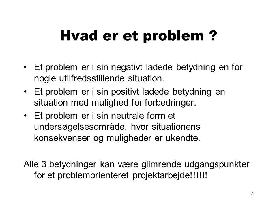 3 Hvad er et initierende problem .