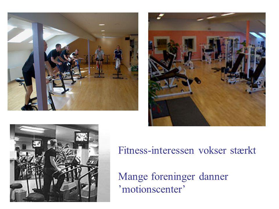 Fitness-interessen vokser stærkt Mange foreninger danner 'motionscenter'
