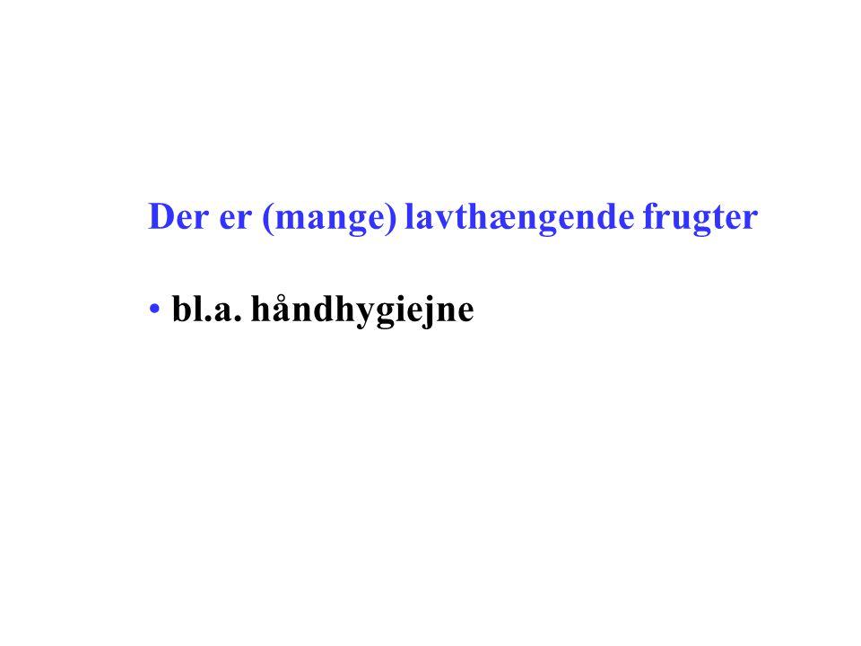 Der er (mange) lavthængende frugter • bl.a. håndhygiejne