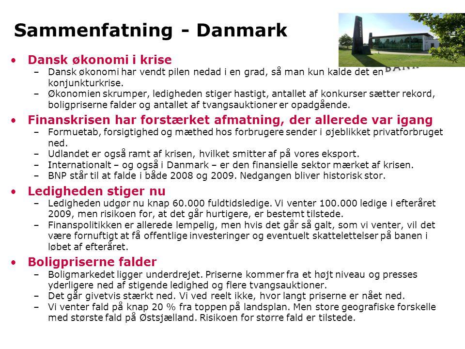 Dansk økonomi i krise •Dansk befinder sig i en historisk kraftig konjunkturnedgang.