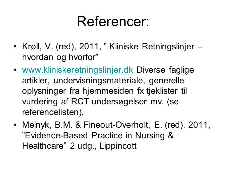 Referencer: •Krøll, V.