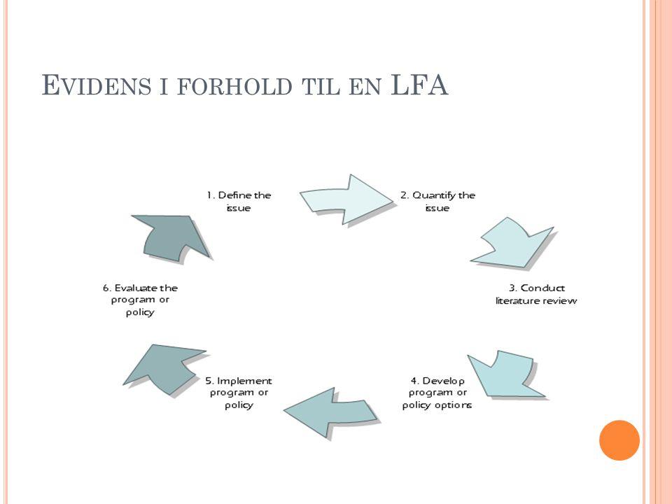E VIDENS I FORHOLD TIL EN LFA