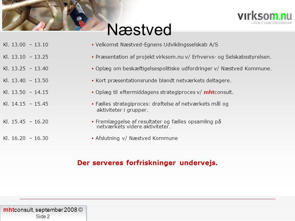 Kl. 13.00 – 13.10  Velkomst Næstved-Egnens Udviklingsselskab A/S Kl.
