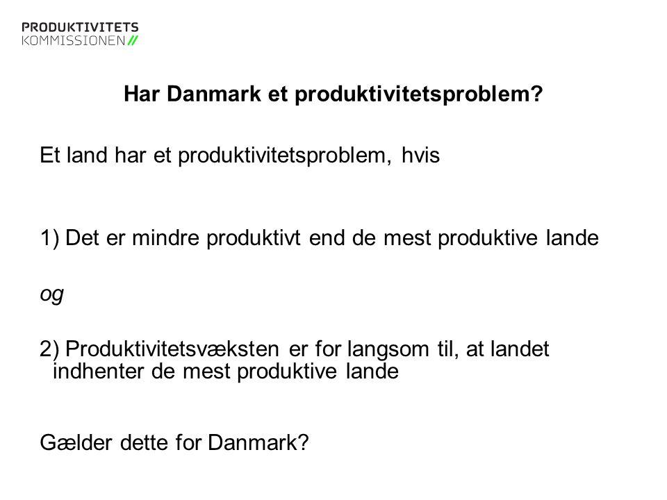 Tekstslide med bullets Brug 'Forøge / Formindske indryk' for at skifte mellem de forskellige niveauer Dansk og europæisk timeproduktivitet sakker agterud PRODUKTION PR.