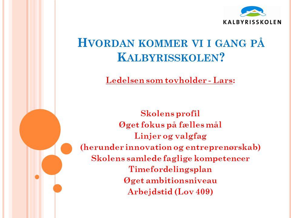 H VORDAN KOMMER VI I GANG PÅ K ALBYRISSKOLEN .