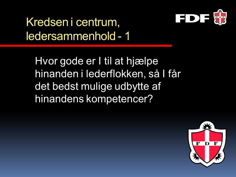 Kredsen i centrum, afrunding Tak for jeres indsats Indtast jeres resultater på FDF.dk/kredsen, og få bud på hvordan kredsen kan arbejde videre…