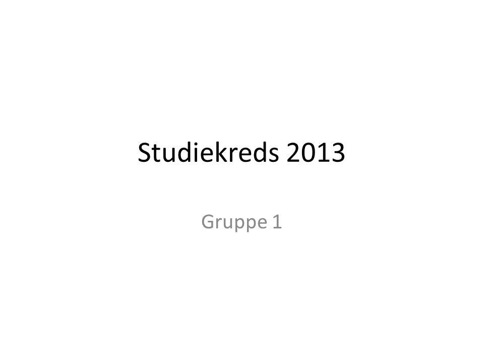 Studiekreds 2013 Gruppe 1