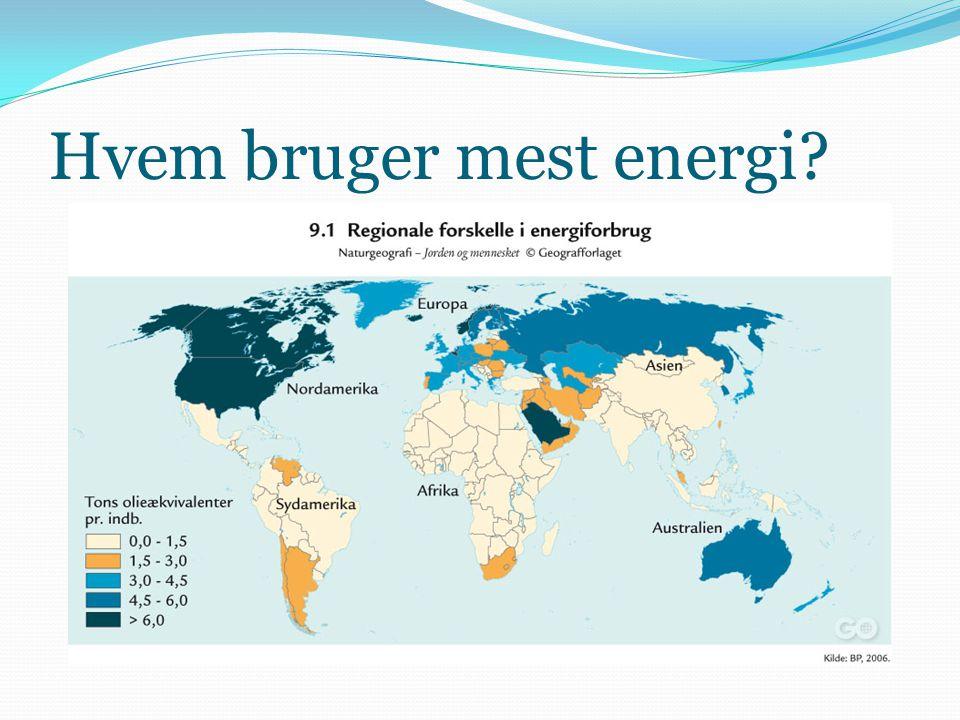 Hvem bruger mest energi?