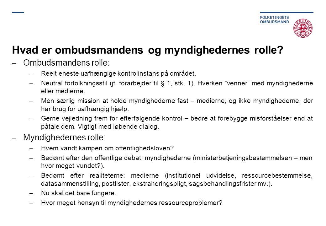 Hvad er ombudsmandens og myndighedernes rolle.