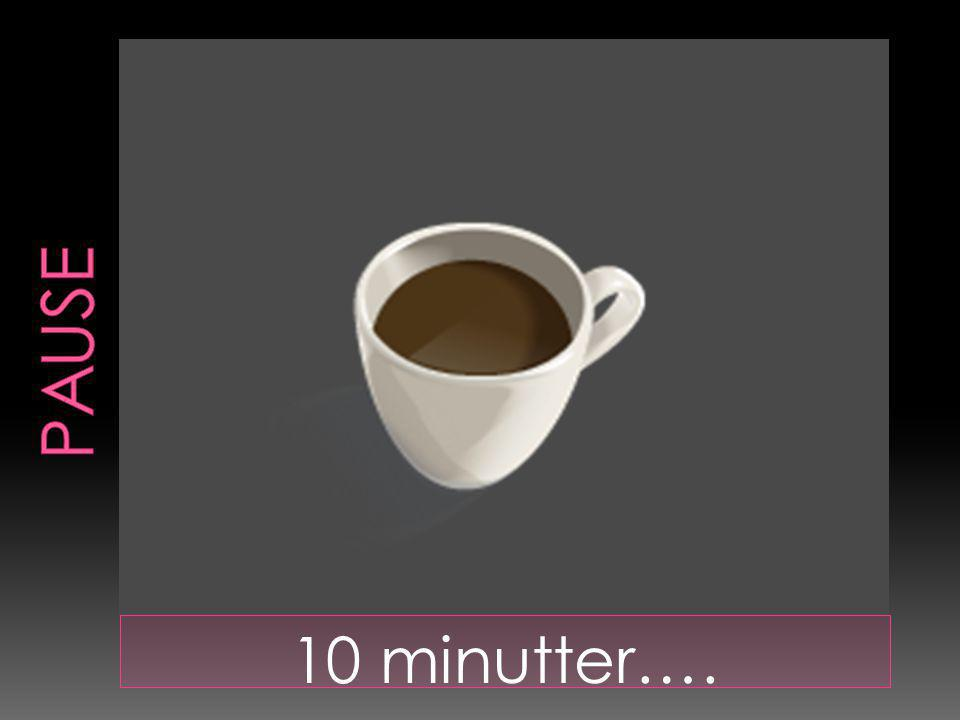 10 minutter….