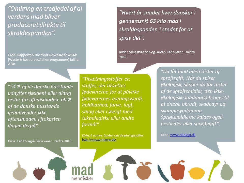 Omkring en tredjedel af al verdens mad bliver produceret direkte til skraldespanden .