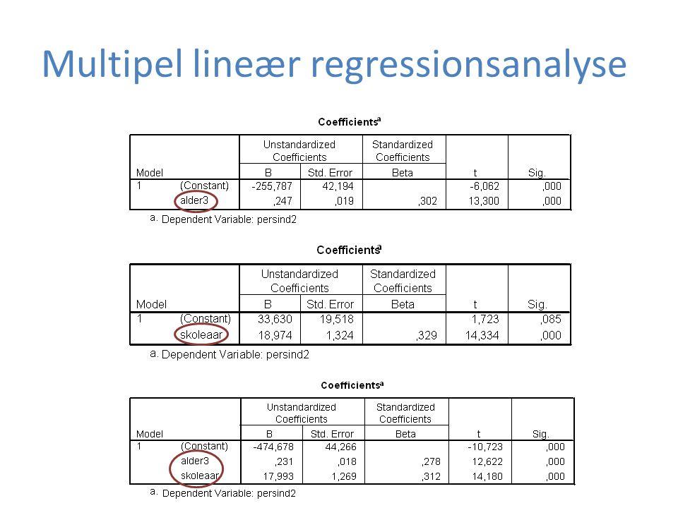 Multipel lineær regressionsanalyse