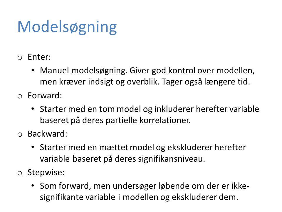 Modelsøgning o Enter: • Manuel modelsøgning.