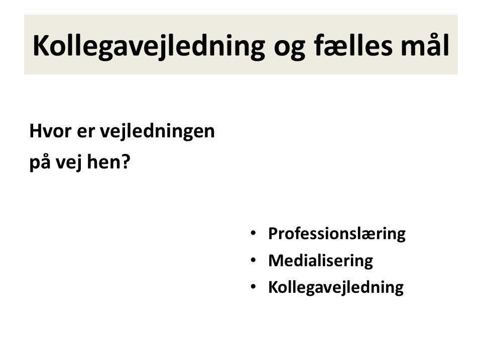 PROGRAM 1.Udgangspunkt 2.Professionslæring og praksisrefleksion 3.Medialisering og læring 4.Kollegavejledning 5.Spørgsmål