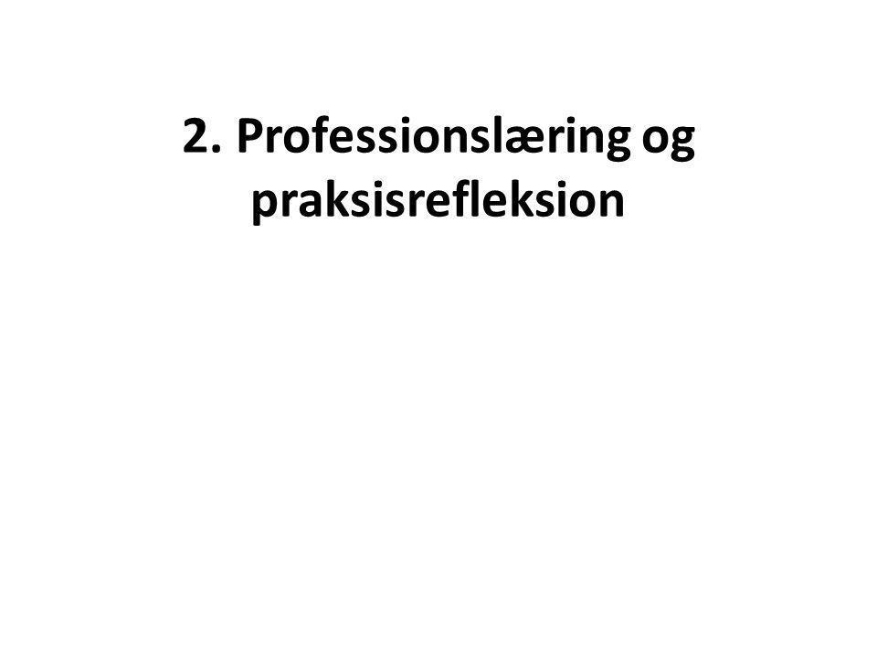 2. Professionslæring og praksisrefleksion