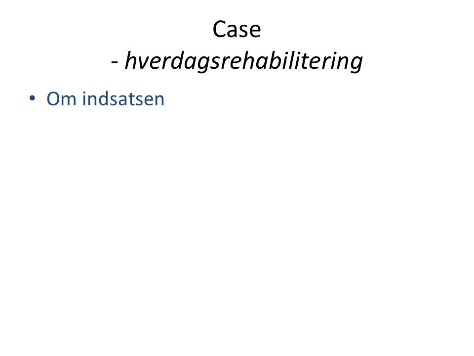 Case - hverdagsrehabilitering • Om indsatsen