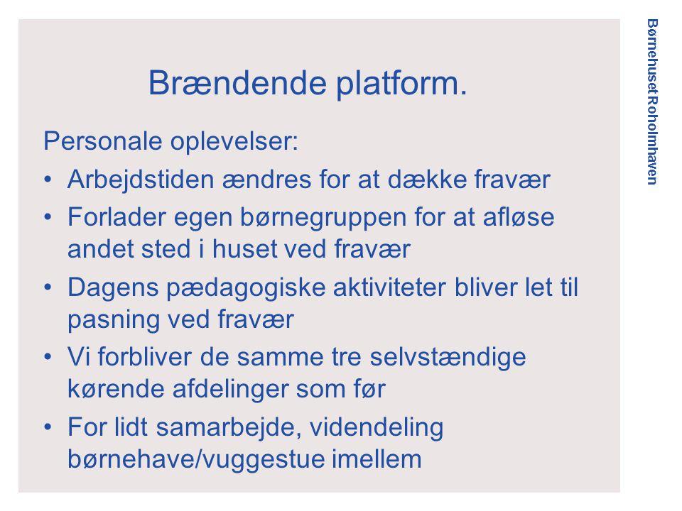 Børnehuset Roholmhaven Brændende platform.