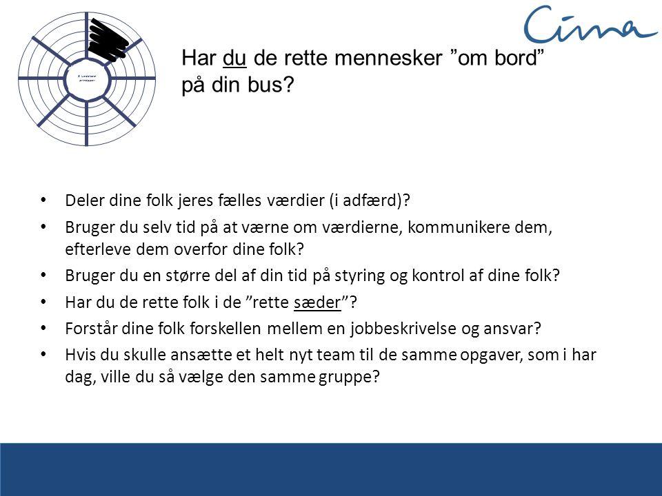 Har du de rette mennesker om bord på din bus.