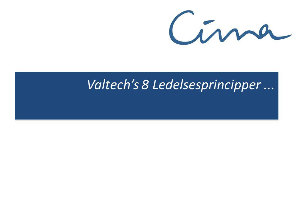 Valtech's 8 Ledelsesprincipper...