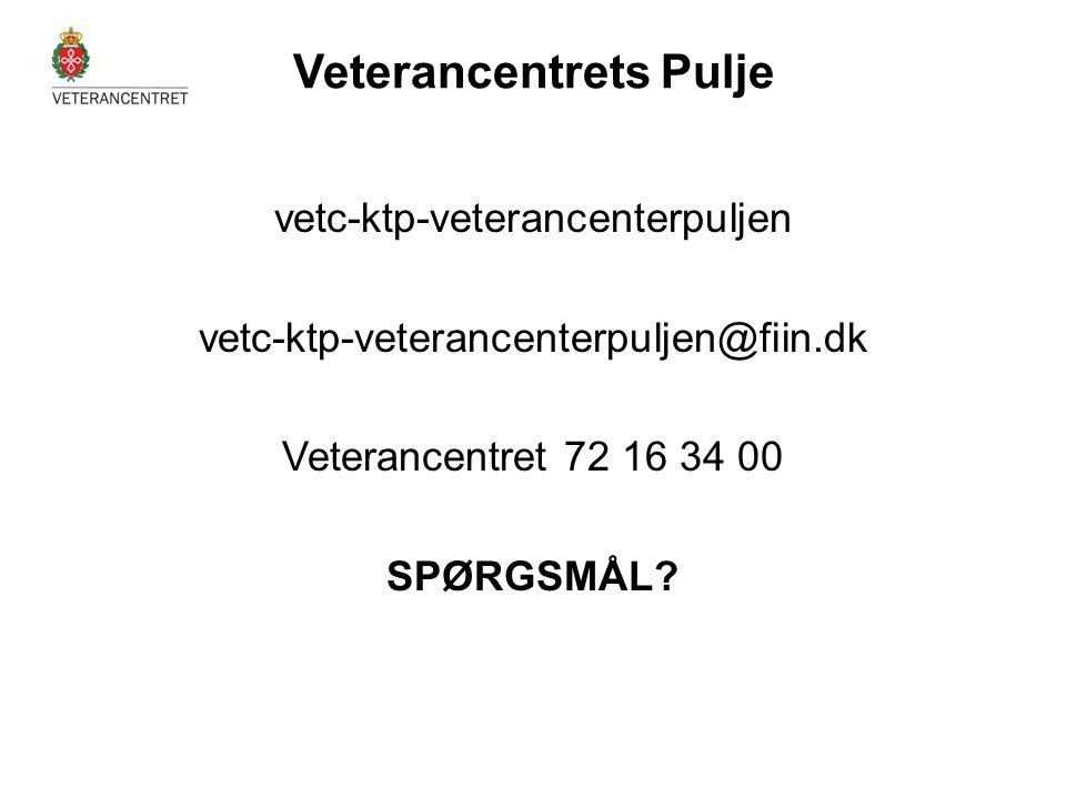vetc-ktp-veterancenterpuljen vetc-ktp-veterancenterpuljen@fiin.dk Veterancentret 72 16 34 00 SPØRGSMÅL? Veterancentrets Pulje