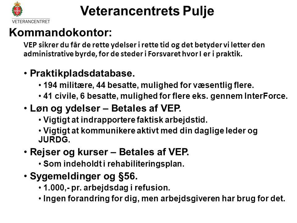 Kommandokontor: VEP sikrer du får de rette ydelser i rette tid og det betyder vi letter den administrative byrde, for de steder i Forsvaret hvor I er