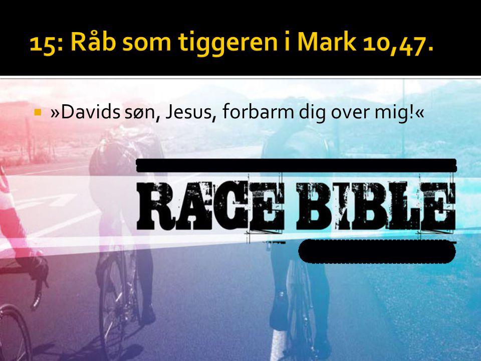  »Davids søn, Jesus, forbarm dig over mig!«