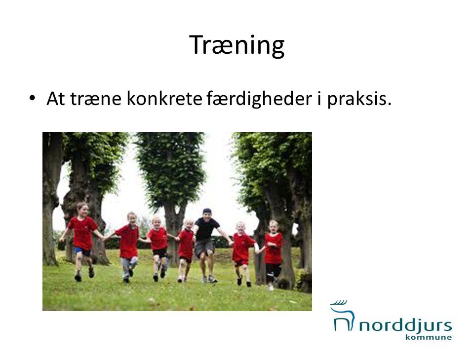 Træning • At træne konkrete færdigheder i praksis.
