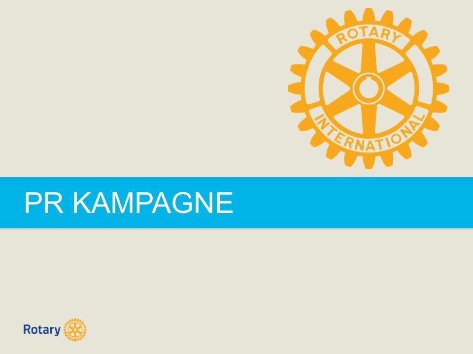 TITLE | 2 PR KAMPAGNE PR Kampagne  Rotary International har valgt at genfortælle og genoplive Rotarys historie, da alt for få mennesker kender til den historie, som er Rotarys kernekoncept