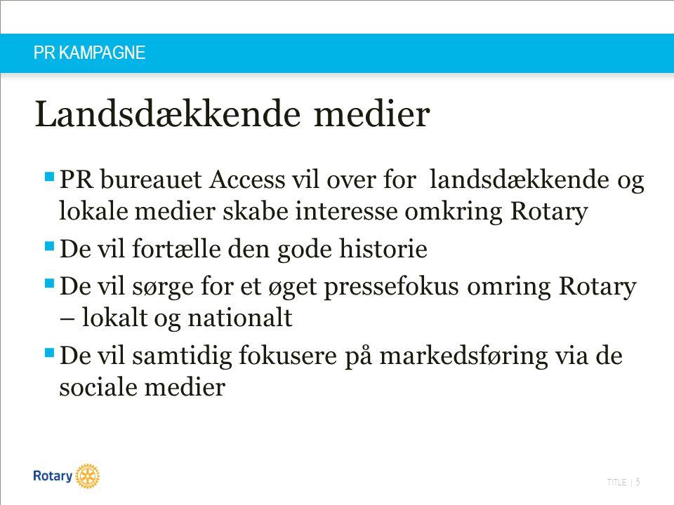 TITLE | 16 PR KAMPAGNE - IVÆRKSÆTTER Milepæle  D.