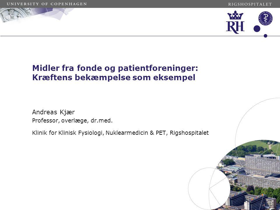 Held og lykke med ansøgningerne! Andreas Kjær medlem af KB's videnskabelige udvalg 2006-2012