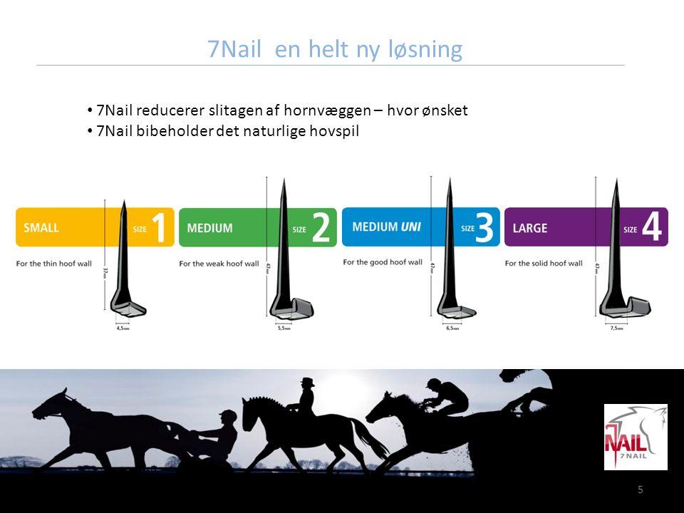 16 Instruktion 7.Instruer hesteejeren om regelmæssigt at kontrollere om 7Nails sidder som de skal.