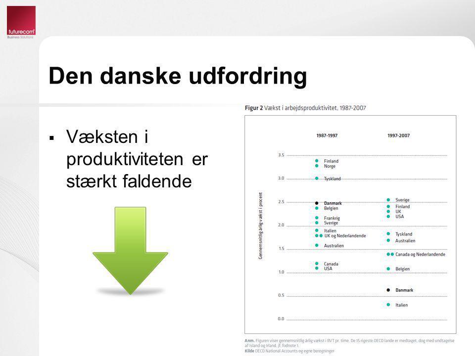 Unified Communications & Collaboration Forretningsmæssige fordele  Produktivitet  Mobilitet  Tilgængelighed  Vidensdeling  Mersalg og krydssalg  Work/life balance  Besparelser  Telefoni besparelser  Rejse besparelser  Sparet transporttid  CO2 besparelser
