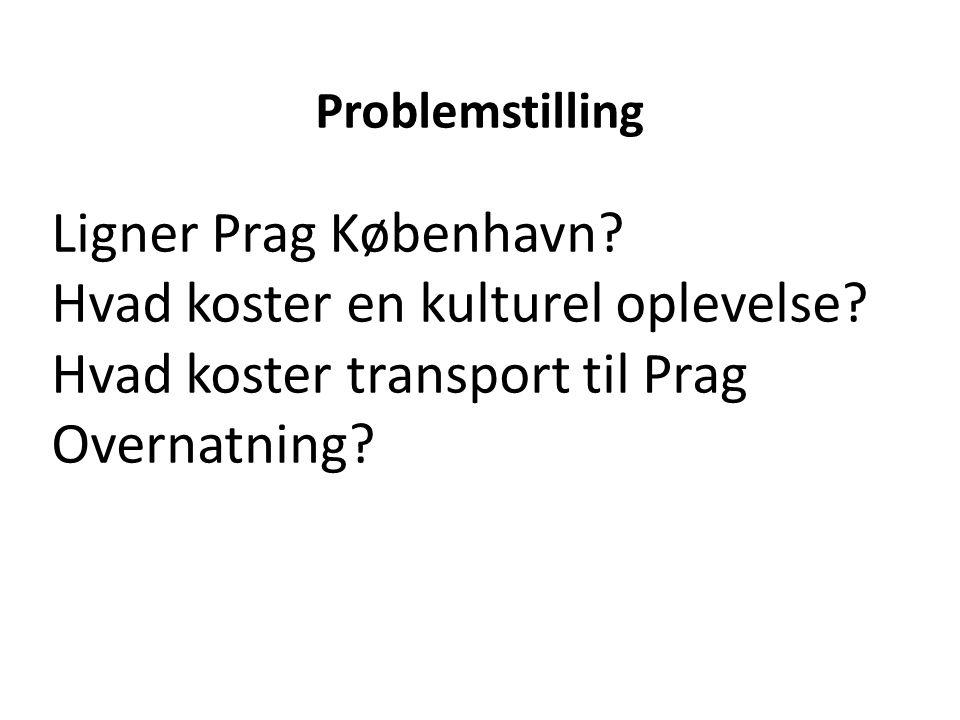 Ligner Prag København.Hvad koster en kulturel oplevelse.