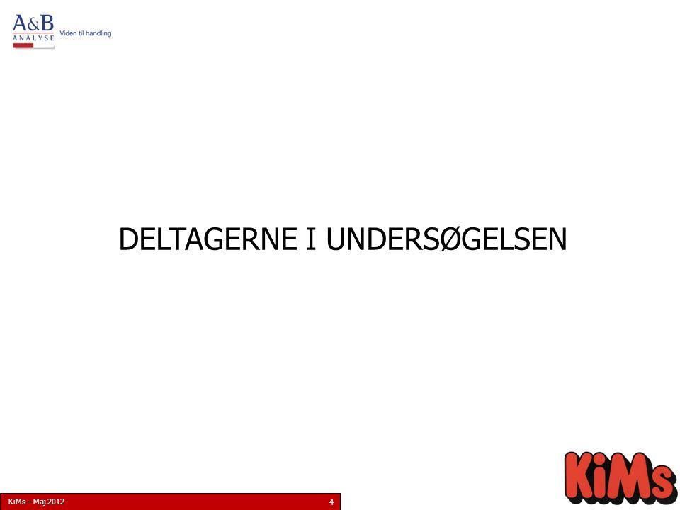 KiMs – Maj 2012 4 DELTAGERNE I UNDERSØGELSEN
