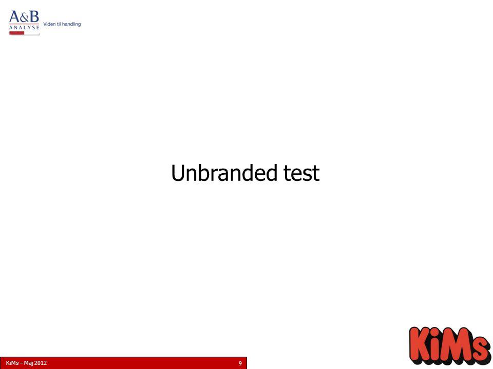 KiMs – Maj 2012 9 Unbranded test