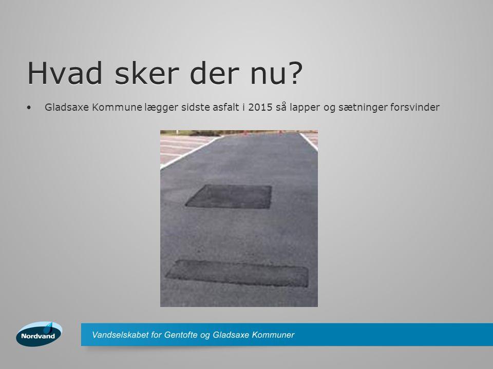Hvad sker der nu? •Gladsaxe Kommune lægger sidste asfalt i 2015 så lapper og sætninger forsvinder