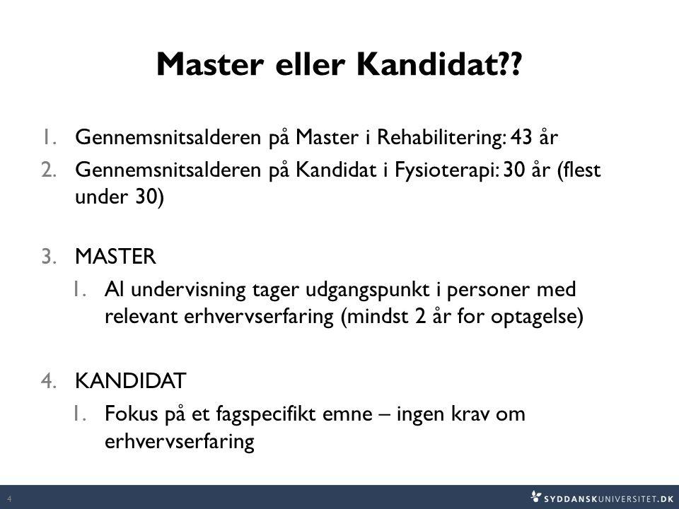 Master eller Kandidat?.