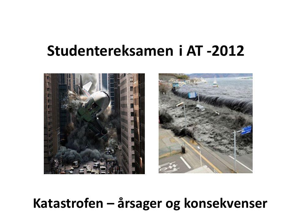 Studentereksamen i AT -2012 Katastrofen – årsager og konsekvenser